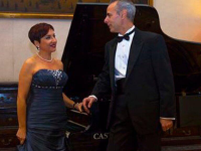 Oper Serenaden mit einem traditionellen italienischen Abendessen